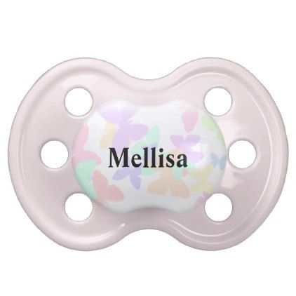 Butterfly personalized baby name pacifier baby gifts child new butterfly personalized baby name pacifier baby gifts child new born gift idea diy cyo special negle Gallery