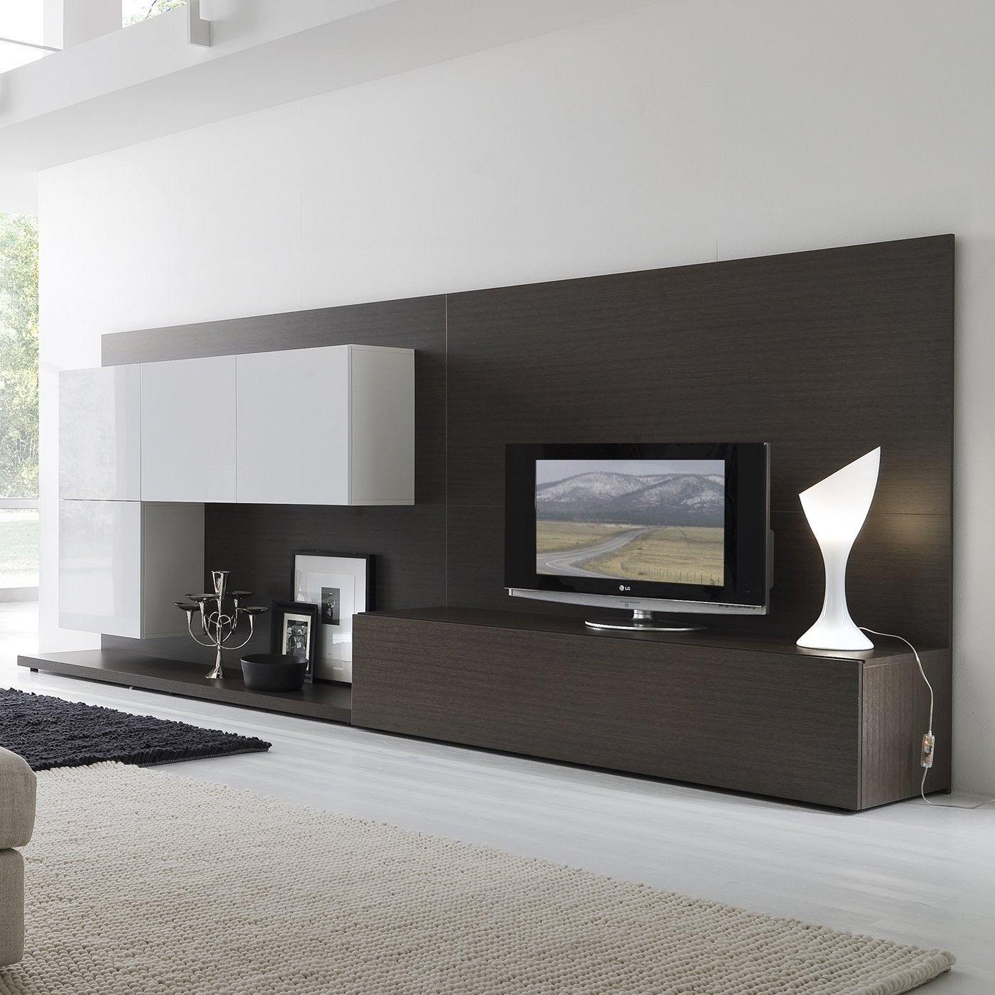 Contemporary Wall Unit Dream Home Living Room Design