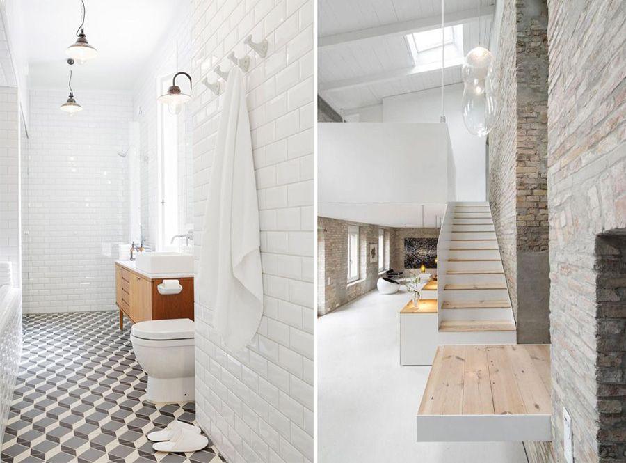 December feeling: casa total white e legno grezzo bagno e dintorni