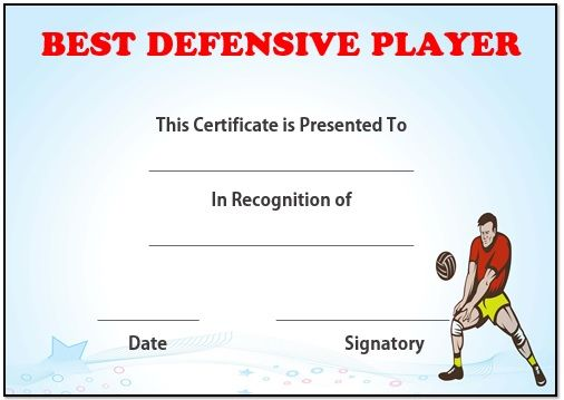 Volleyball best defensive player award volleyball certificates free award certificates 19 best volleyball certificates free printables images on yelopaper Image collections