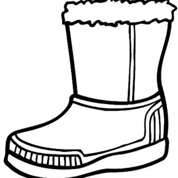 Winter Boots Large Coloring Page Coloring Pages Coloring Pages