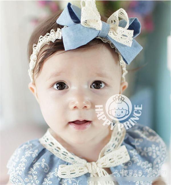 12 JASMIN FLOWER BABY girl headbands hair accessories stretchy