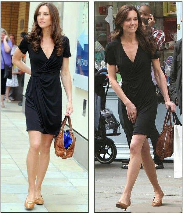 Kate Middleton Kitten Heels Black