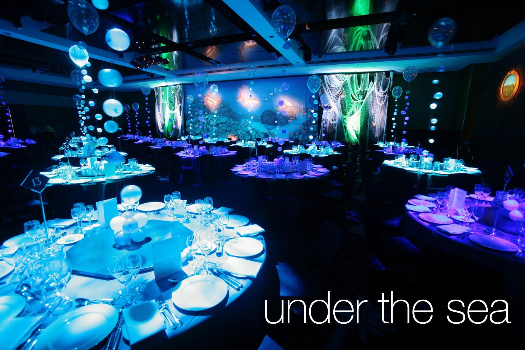 Prom Dinner Party Ideas Part - 27: Decoration For Your Enchantment Under The Sea Party | Sweet 16 Sea Theme |  Pinterest | Decoration, Sweet 16 And Theme Ideas
