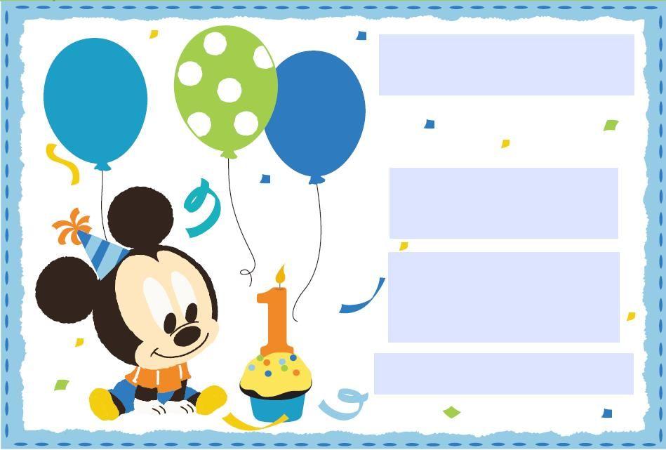 INVITACIONES MICKEY MOUSE - Buscar con Google | INVITACIONES ...
