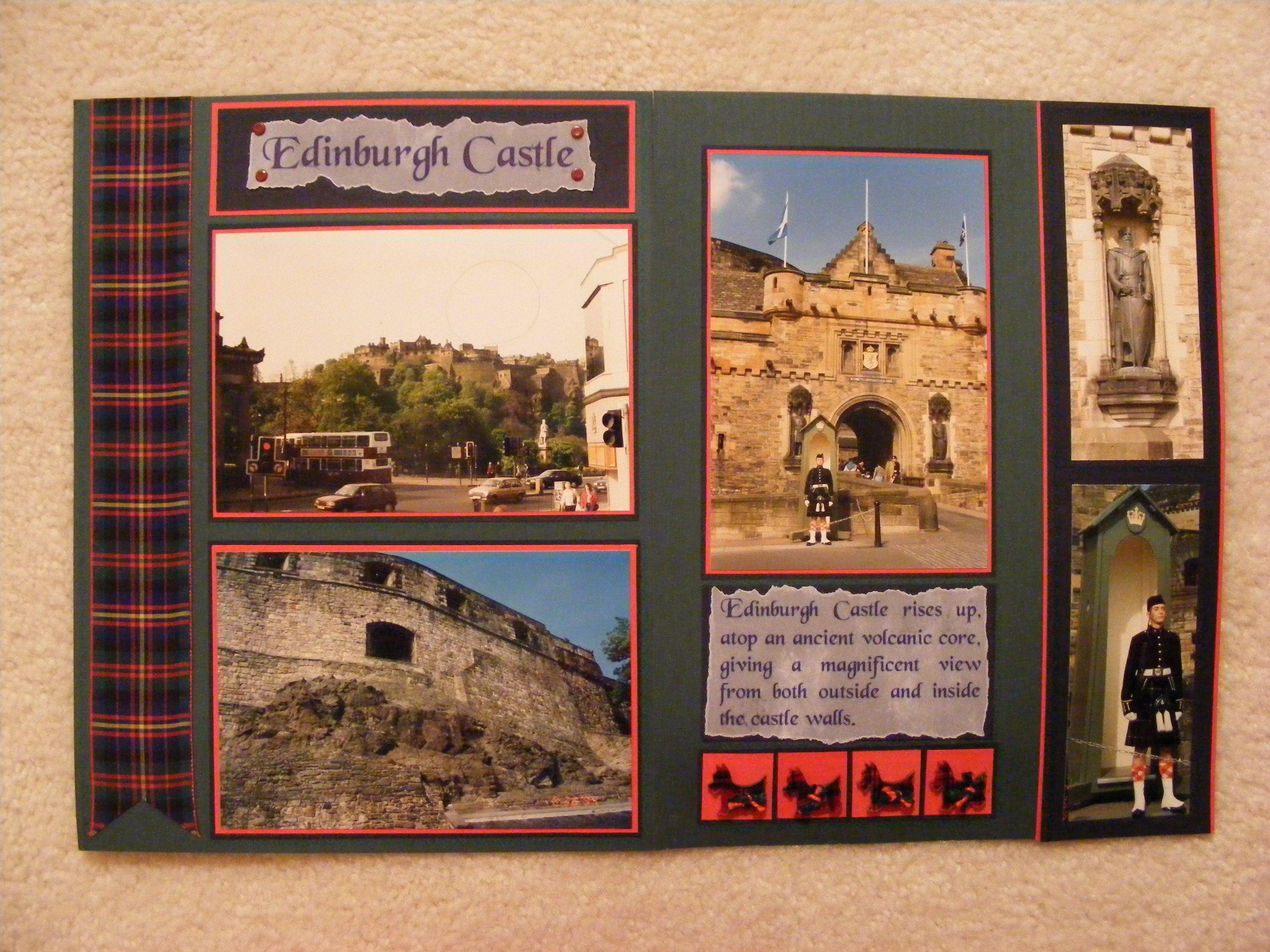 Scrapbook paper england - Anniversary Album Edinburgh Castle Scotland Scrapbook Com