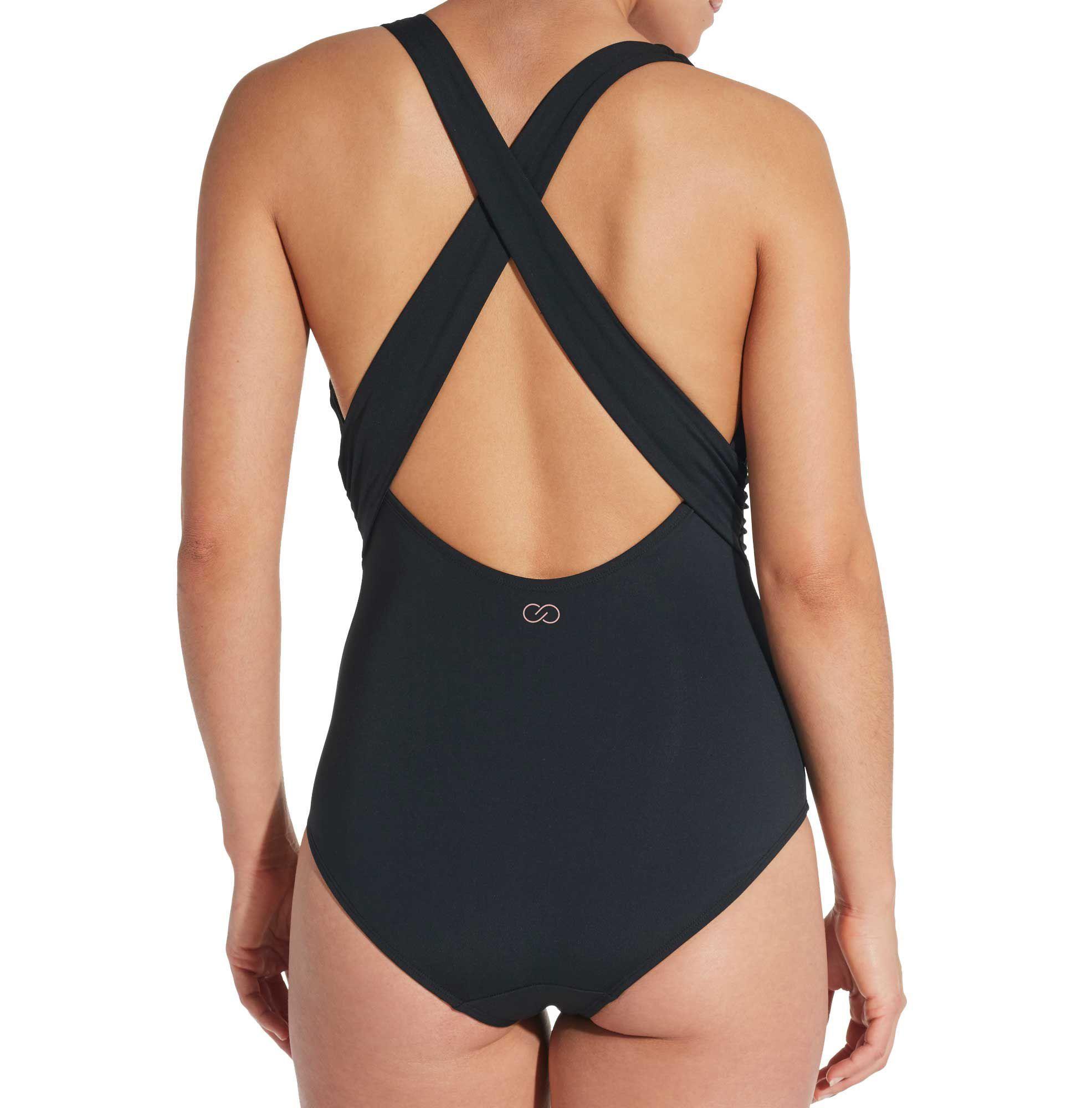 0d171c6d3477 Calia by Carrie Underwood Wrap Crossback Swimsuit, Women's, Size: 16, Black
