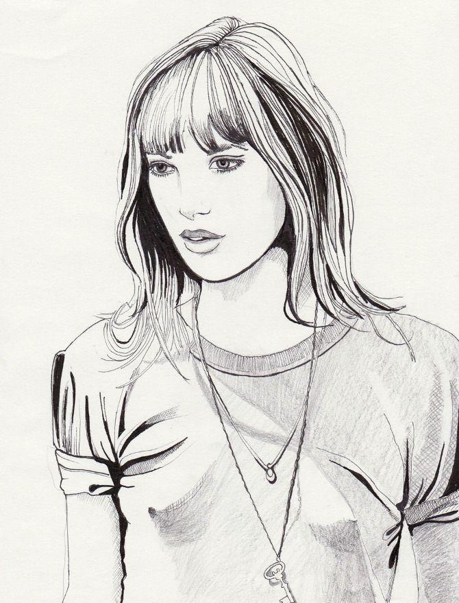 + The Jane Birkin Illustrations - Daphne van den Heuvel