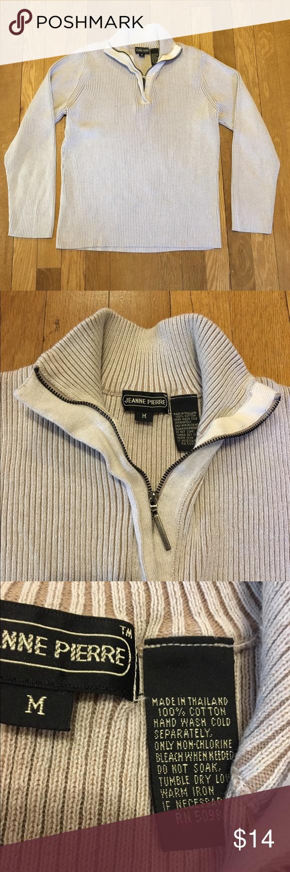 Cotton half zip women's sweater Cotton half zip women's sweater ...