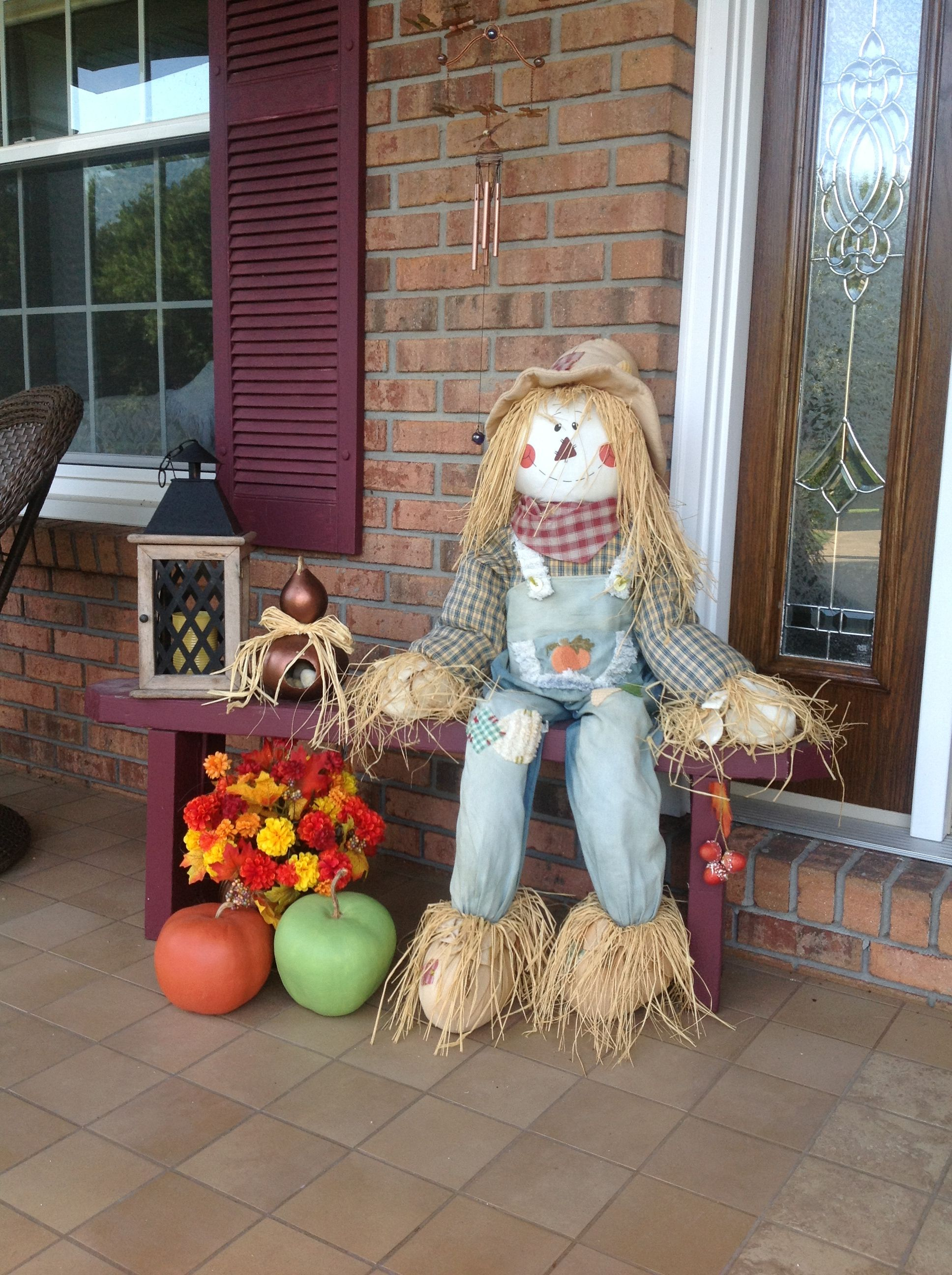 Fall Decor Outdoor Scarecrow Holidays N Home Fall Scarecrows