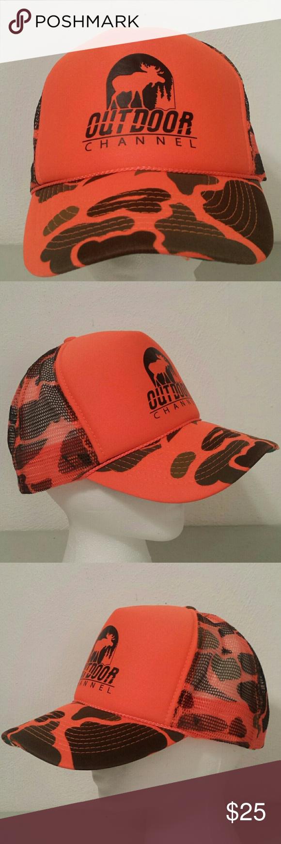 Orange Camoflauge Outdoor Channel Snapback Hat Snapback Hats Hats Camoflauge