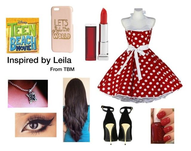 """""""Inspired by Leila from Teen Beach Movie"""" by spirtanimal562 ❤ liked on Polyvore featuring Balmain, Maybelline, H&M and Essie"""