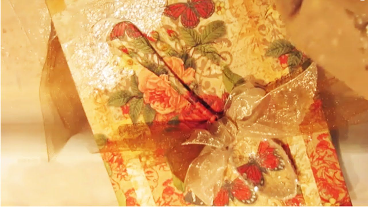 How To Decoupage Napkin On Canvas No Wrinkles With Images