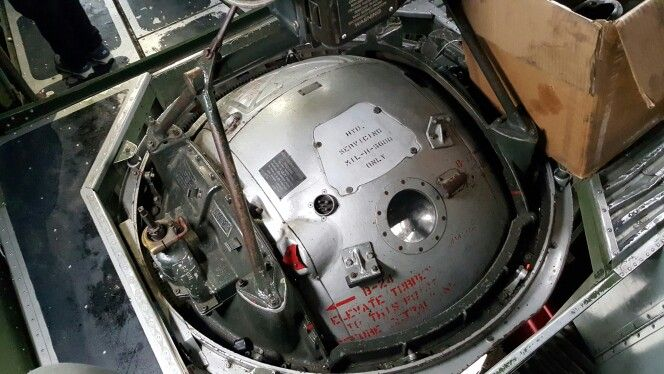 Ball turret on B-17 Nine O' Nine