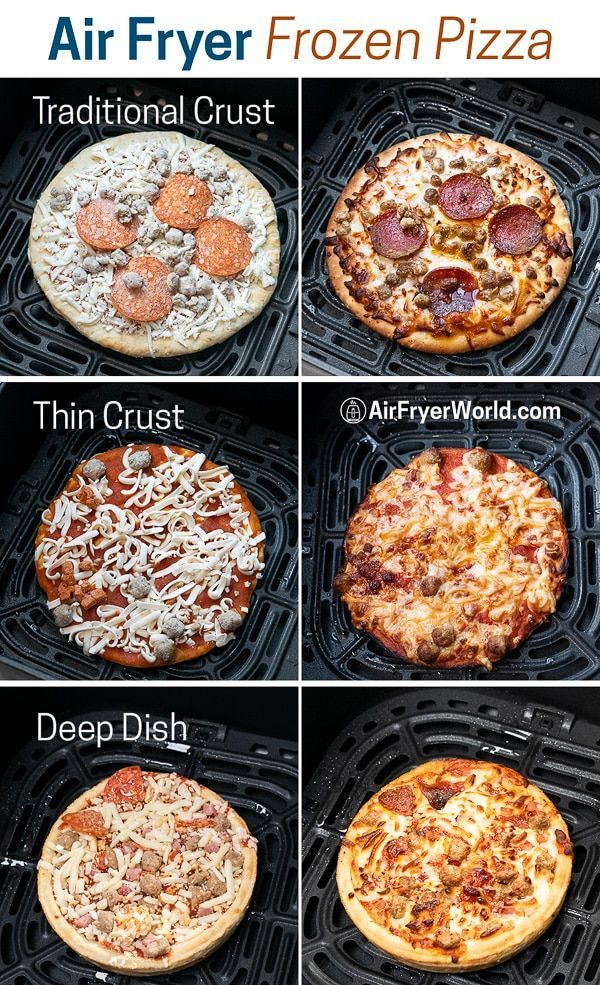 Air Fried Frozen Pizza in Air Fryer What Temp Time? Air