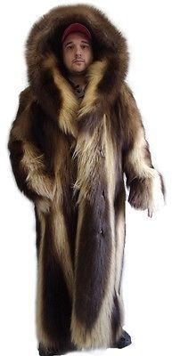 d14efe223375 Brand new wolverine fur coat jacket w hood men man in 2019