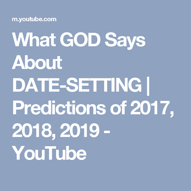 What god word says about dating