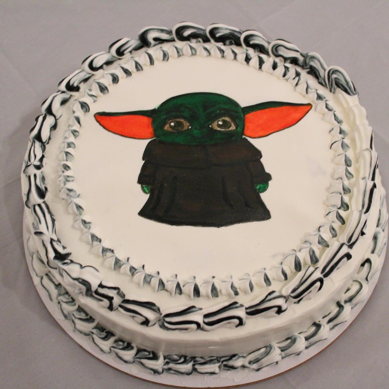 Baby yoda cake cake baking dessert desserttable