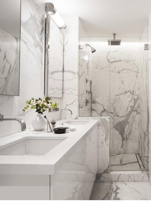Beyaz Mermer Banyo Modelleri 2017 2020 Banyo Fayansı