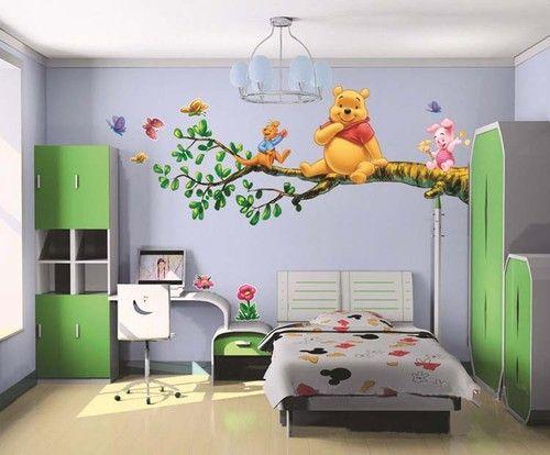 60x90cm Winnie The Pooh Wall Sticker Decal Nursery Wall Dacals