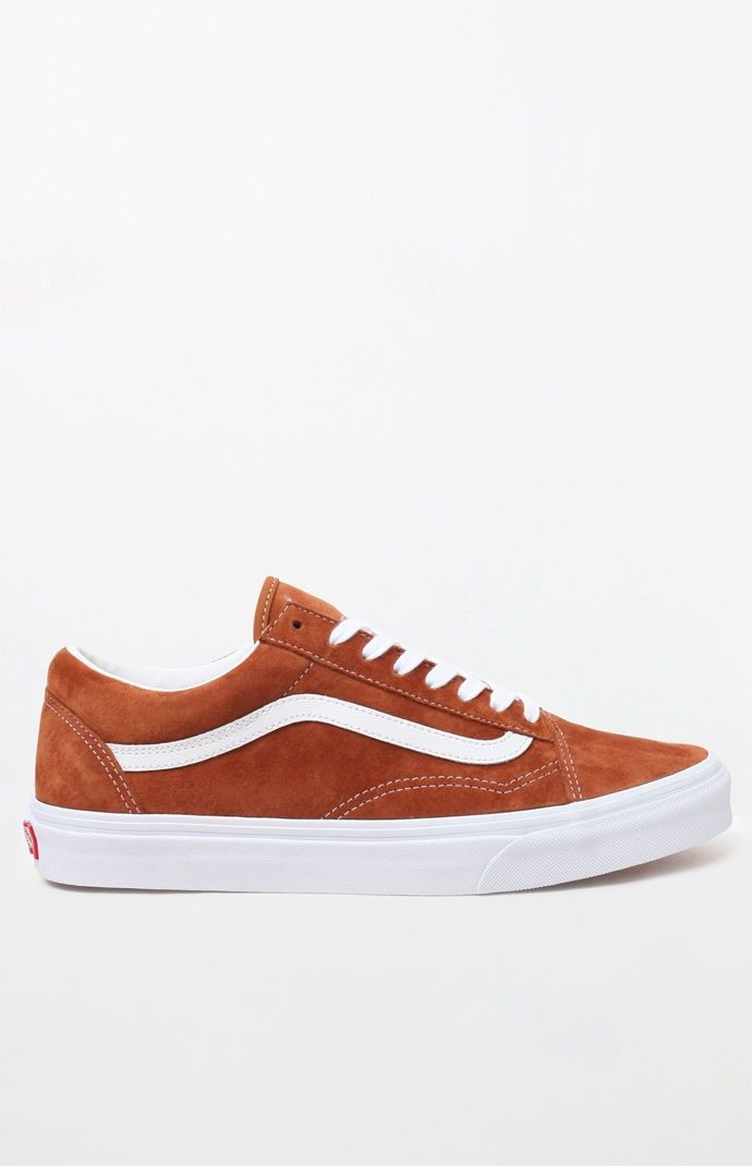6510a435e568e4 Vans Pig Suede Old Skool Brown Shoes - 9