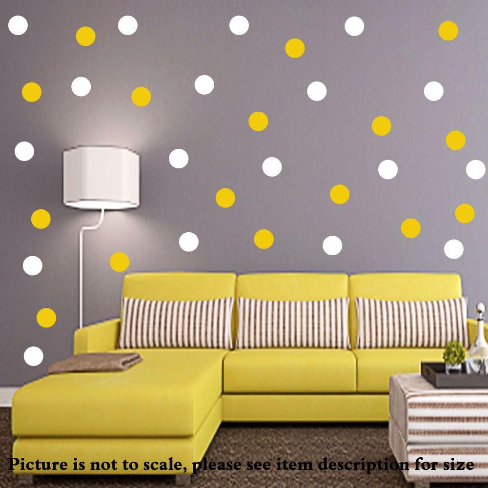 30 Polka Dot Wall Stickers spot Bubble Kid Decal Art Nursery Girls ...