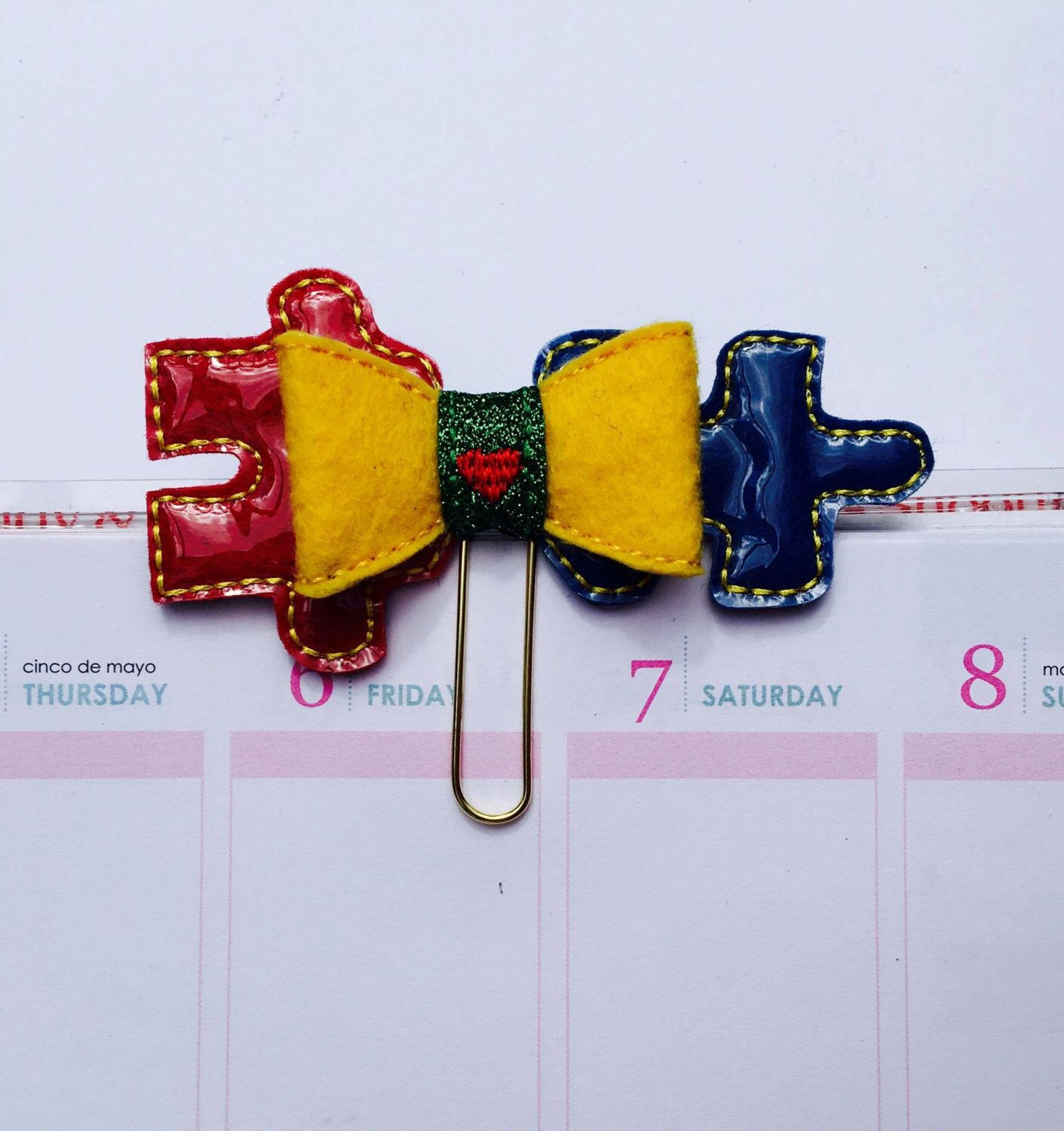 Autism Awareness Planner Clip https://www.etsy.com/listing/277332576/autism-awareness-puzzle-piece-primary