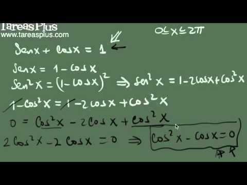 Solución de una ecuación trigonométrica ejemplo 3