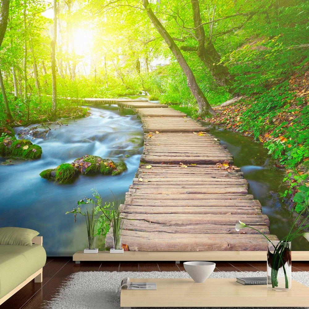 """""""Wallpaper Green forest"""" 3D Wallpaper Murals UK nel"""
