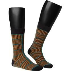 Photo of Alto Milano men's socks, cotton, dark blue patterned