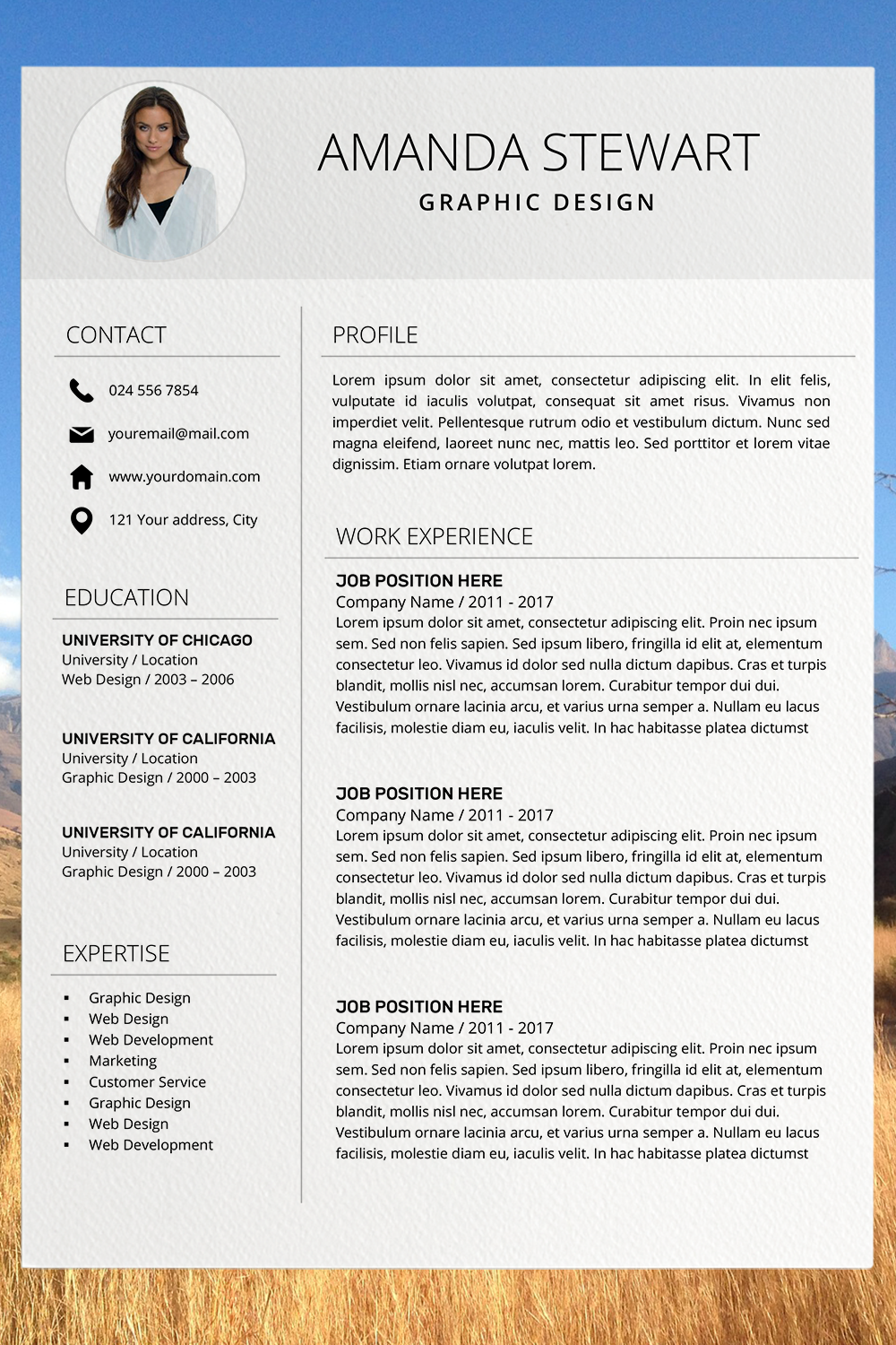 Resume Template | CV + Cover Letter in 2020 | Resume template professional, Resume template word ...