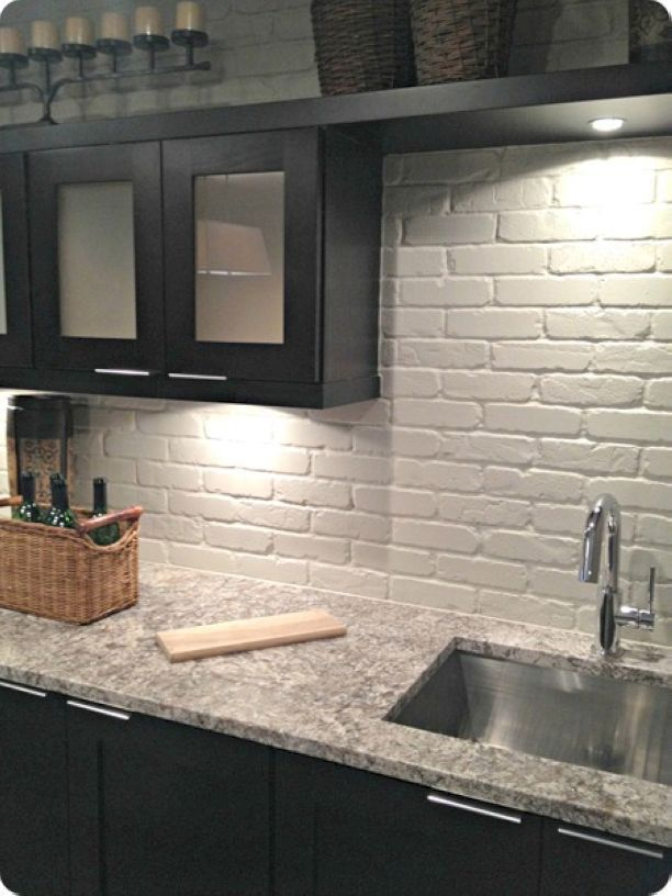 Gorgeous Kitchen Backsplash Ideas 32 White Brick Backsplash