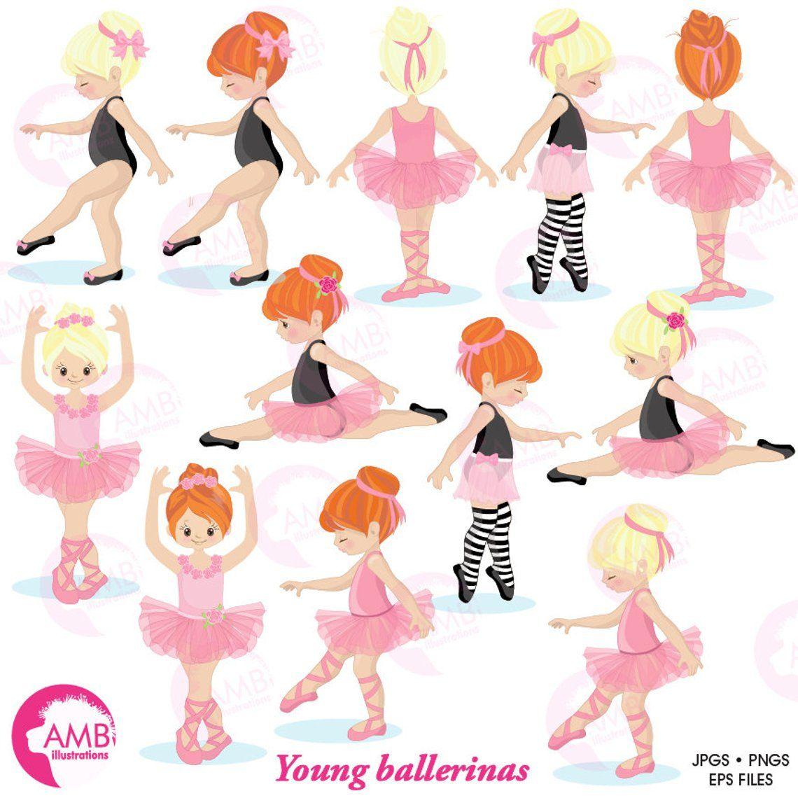 Ballerina clipart, Ballet clipart, pink ballerina, girl