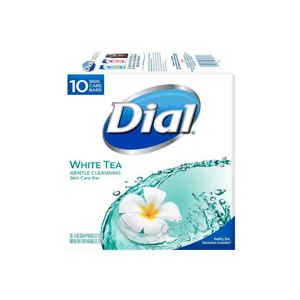 Dial Skin Care White Tea Bar Soap 4oz Bar Soap Dial Soap Hand Sanitizer