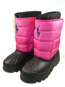 Details about Polo Ralph Lauren Velcro Pink Snow boot 95410GS ...