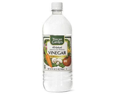 Tuscan garden white vinegar organization visual grocery list pinterest white vinegar for Vinegar in the garden