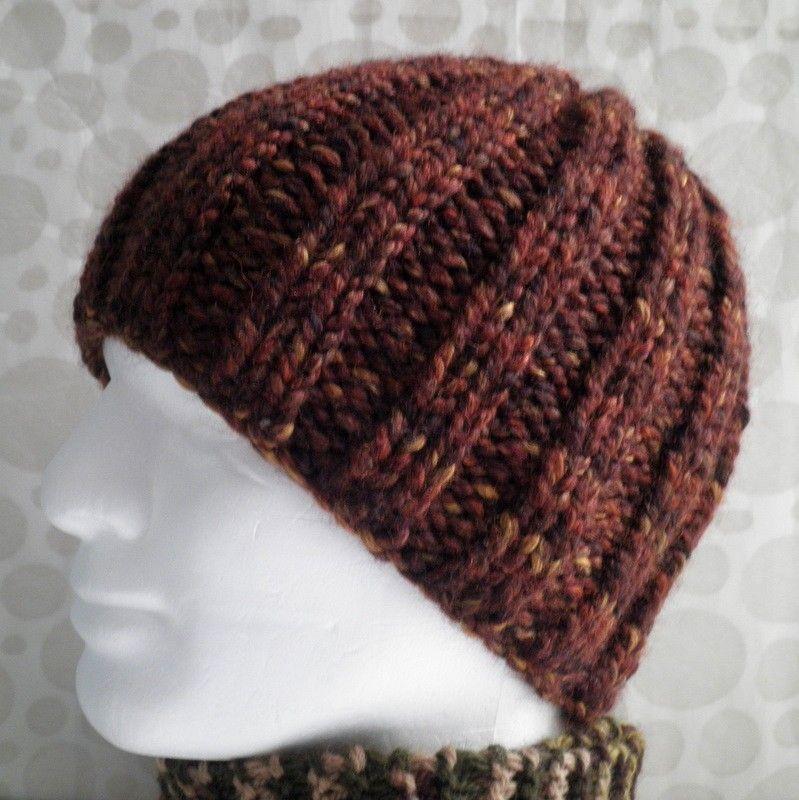 Knitting Patterns Rustico Chunky Knit Beanie Winter Hat Womans Etsy Chunky Knitting Patterns Knitting Beanie Hat Pattern Knitted
