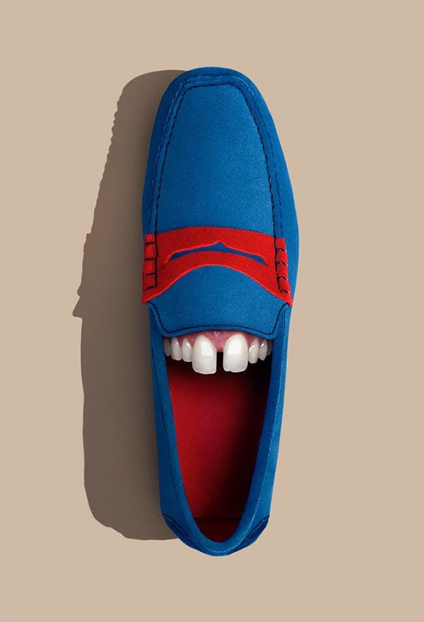 Funny Photos Of Shoes With Teeth That Reflect Their Wearers' Personalities - DesignTAXI.com
