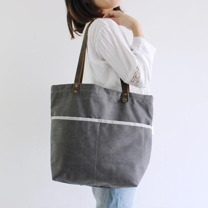 Handmade Canvas Bag Handcrafted Women Totes School