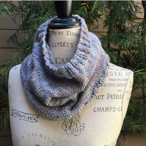 Easy One Skein Collage Cowl Free Knitting Pattern ...
