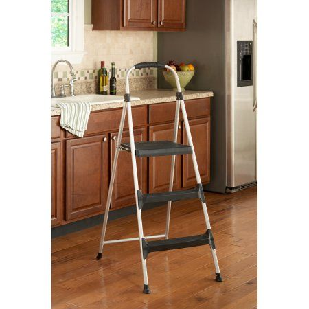 Cosco Signature 3-Step Aluminum Step Stool with Plastic Steps  sc 1 st  Pinterest & Cosco Signature 3-Step Aluminum Step Stool with Plastic Steps ... islam-shia.org