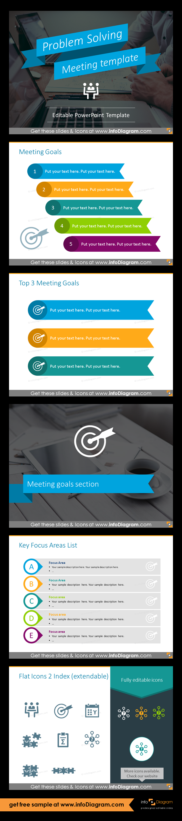 Problem solving meeting template ppt graphics template goal powerpoint template for running effective meeting business meeting type problem solving by defining a challenge doing team brainstorming and evaluating toneelgroepblik Images