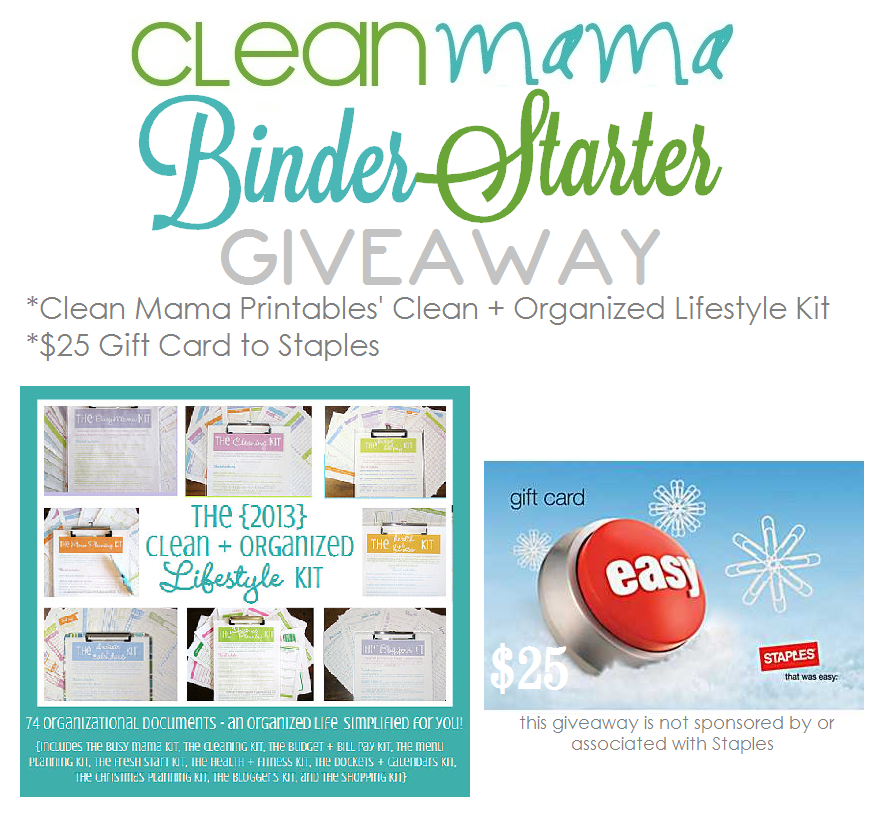 Clean Mama Binder Starter Giveaway. The Key To Being Clean