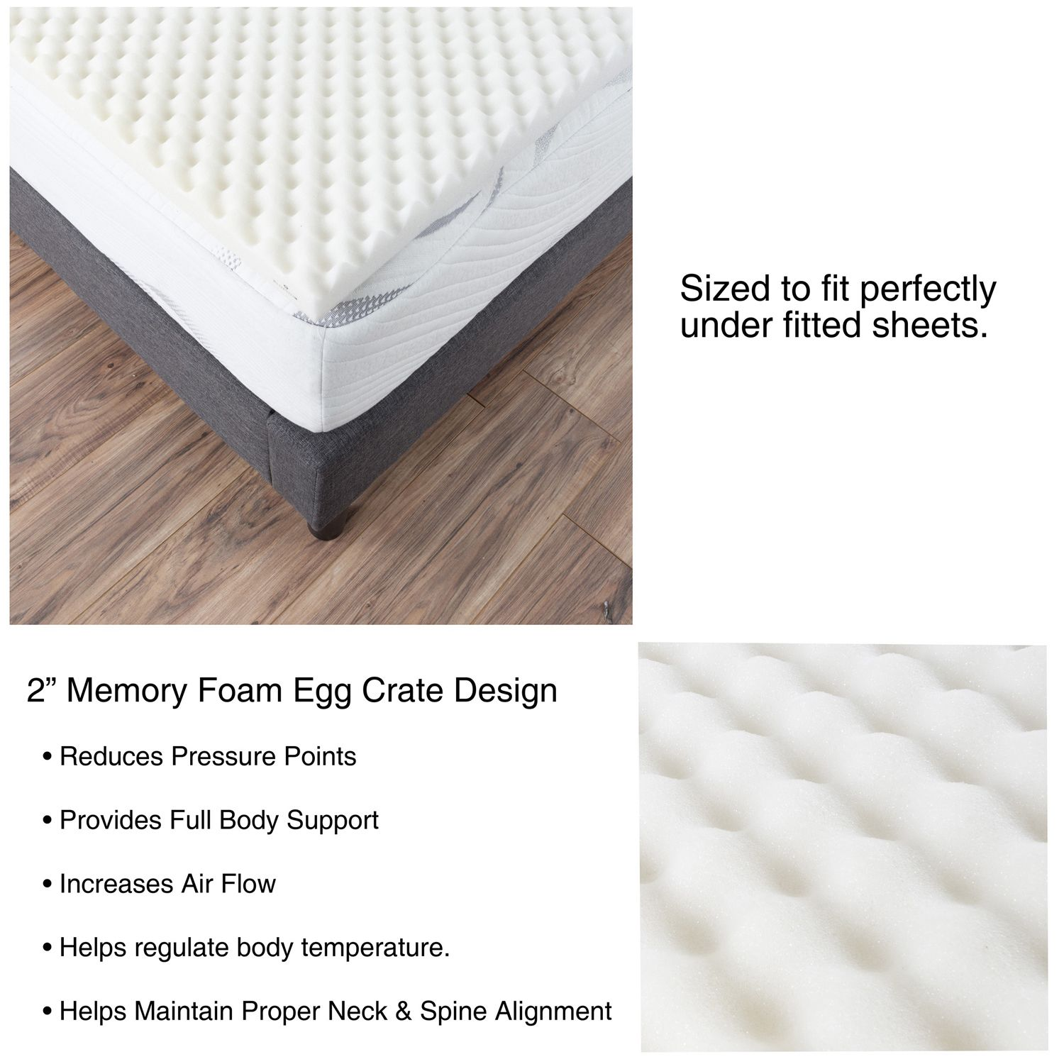 egg crate 2 memory foam mattress topper full egg crates memory