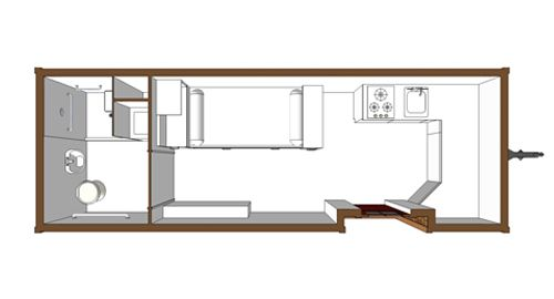 Tiny house handicap accessible floor plan small and for Handicapped accessible house plans