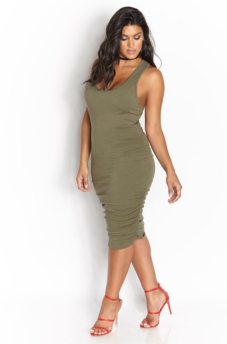 Rebdolls My Loving Goes Ruched Racerback Midi Dress Plus Size Black Dresses Racerback Midi Dress Midi Dress Plus Size [ 1138 x 750 Pixel ]