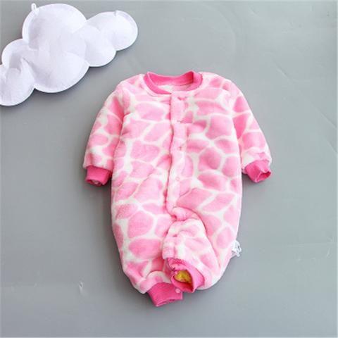 437ab1597 BibiCola New Baby Winter Rompers Newborn Cotton jumpsuit Thick Baby ...