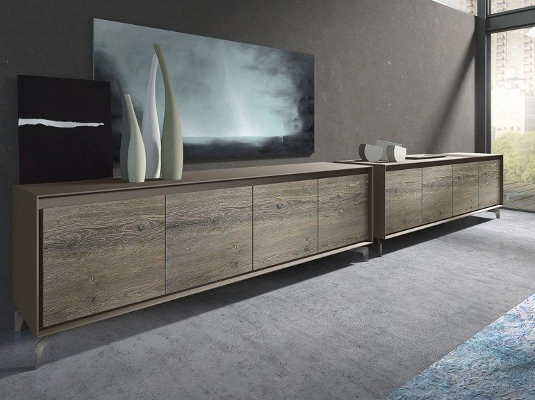 Wooden sideboard with doors neck by presotto industrie for Presotto industrie mobili