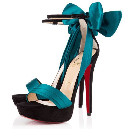 17158d98c46e ... discount christian louboutin satin sandals black peacock 6d8e0 22e61