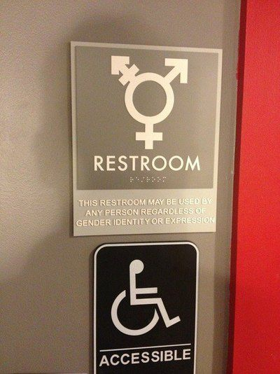 The 25 best unisex bathroom sign ideas on pinterest for Unisex bathroom ideas